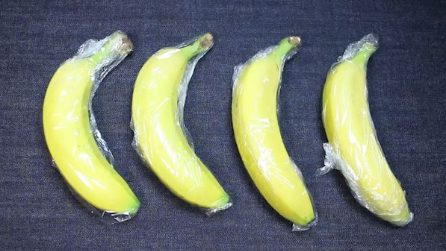 Come evitare di far annerire le banane in frigo
