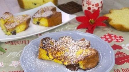 Toast al pandoro: la ricetta facile per una colazione super golosa!
