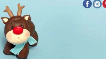 Come fare una renna di Natale con la pasta di zucchero