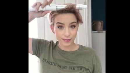 Arricciare i capelli corti: una facile e veloce acconciatura