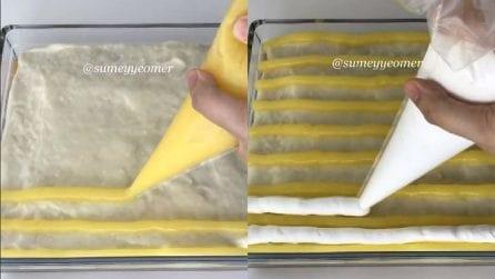 Ricopre la torta con varie creme: una ricetta semplice e golosa