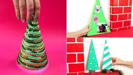 Come realizzare mini alberi di Natale di carta: 3 idee fai da te facili e creative