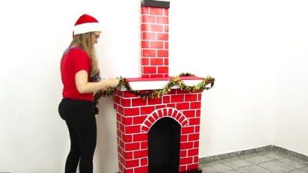 Come costruire un camino natalizio con le scatole di cartone: l'idea fai da te per tutta la famiglia