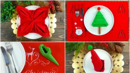 How to fold napkins for Christmas
