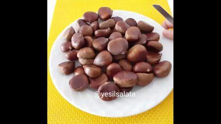 Un metodo semplice e veloce per cuocere le castagne