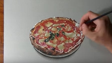 Da acquolina in bocca anche solo a guardarla: l'incredibile disegno rende onore alla pizza