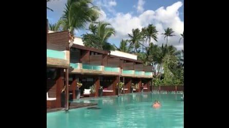 Piscina da sogno in hotel: dalla camera direttamente in acqua
