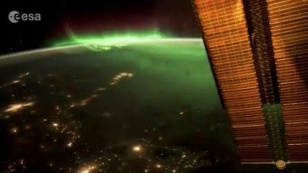 Uno spettacolo visto dallo Spazio: Paolo Nespoli regala le immagini dell'aurora boreale
