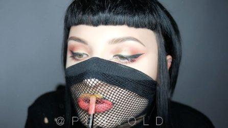 """Appoggia una """"rete"""" sulle labbra: il trucchetto per un look alternativo"""