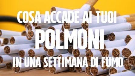 Cosa accade ai tuoi polmoni in una settimana di fumo (sigaretta elettronica VS sigaretta tradizionale)