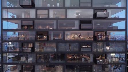 La vetrate di questo palazzo si trasformano in balconi: l'installazione è stupefacente