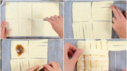 Intreccia la pasta sfoglia: la ricetta golosa e originale