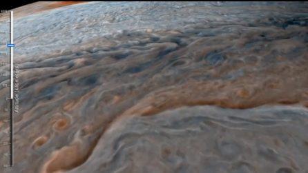 Giove, in volo nella Grande Macchia Rossa: la più grande tempesta del Sistema Solare