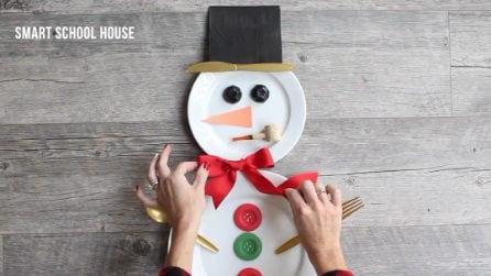 Pupazzo di neve per la tavola di Natale: ecco come realizzarlo