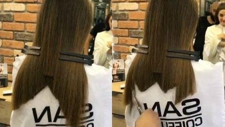 Taglia i capelli in modo particolare: il risultato è perfetto