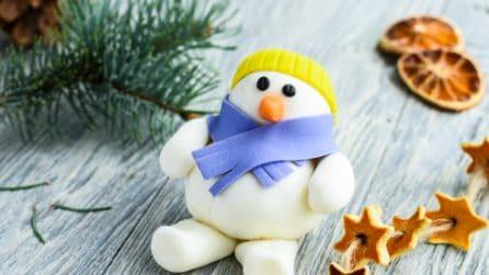 Come fare pupazzo di neve con la pasta di zucchero