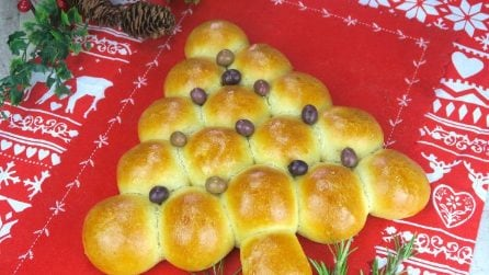 Brioche roll tree: a tasty Christmas treat