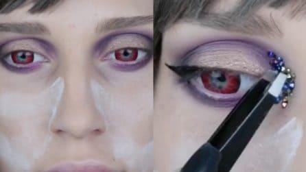 Ombretto, occhi rossi e poi il tocco finale: il make up alternativo da provare