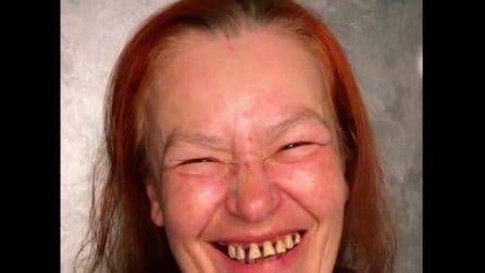 Questa donna non si è mai truccata: un'esperta trasforma completamente il suo aspetto