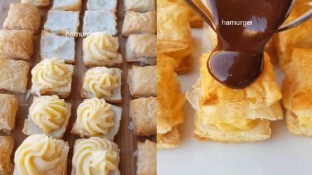 Quadratini di pasta sfoglia: un dessert ideale per ogni occasione