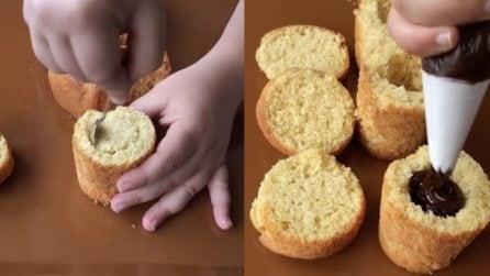 Svuota i muffin e li farcisce: un dolce molto goloso