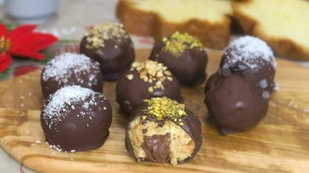 Pandoro truffles: a bite of pure deliciousness!