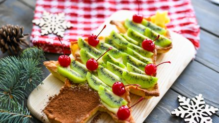 Christmas fruit tart: easy and colorful!