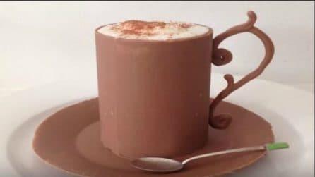 Come realizzare una tazza con il cioccolato