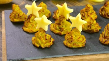Mashed potato Christmas trees: a fun starter to serve at Christmas dinner!