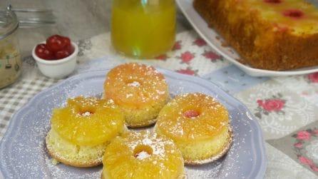 Tortine rovesciate all'ananas: la merenda che conquisterà grandi e piccini!