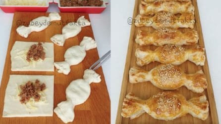 Caramelle di pasta sfoglia: la ricetta gustosa e originale