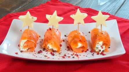 Salmon rolls: a fast recipe for a tasty appetizer