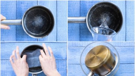 Come pulire una pentola incrostata
