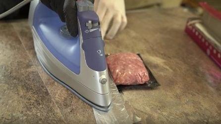 Come conservare la carne: provate con il ferro da stiro