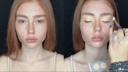 Una bellissima ragazza acqua e sapone: la trasformazione con il make up