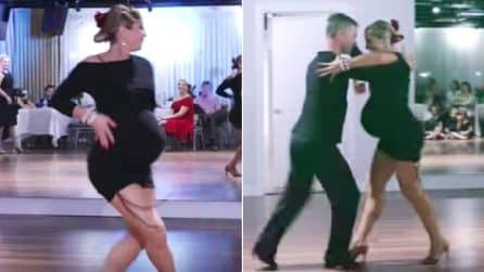 La ballerina al nono mese di gravidanza si esibisce in pista: la performance è mozzafiato
