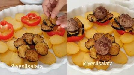 Carne, melanzane, peperoni e fantasia: un modo originale di preparare un secondo piatto