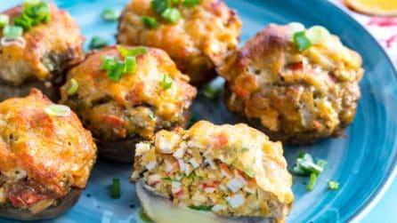 Crab cake stuffed mushrooms