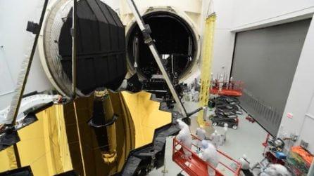 I test del più grande telescopio spaziale mai costruito: lo spettacolare timelapse della Nasa