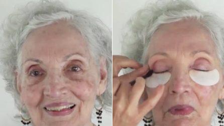 Trucca la nonna 80enne e la rende stupenda: una bellissima trasformazione