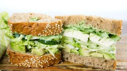 Mozzarella and Salad Sandwich