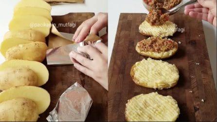 Cuoce le patate nella carta alluminio e prepara un piatto squisito