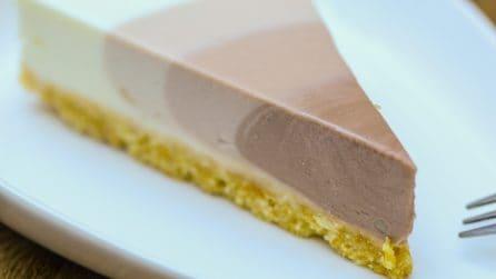 Cheesecake al cioccolato: l'effetto finale è incredibile!