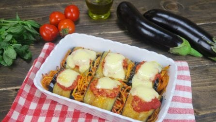 Eggplant and spaghetti roll-ups: you won't be able to eat just one!