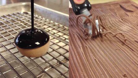 Cioccolato fuso e spaghetti al cacao: la decorazione che vi stupirà