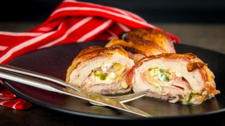 Chicken and Bacon Cream Cheese Roll Ups