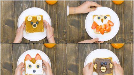 Toast creativi: l'idea originale per far mangiare la frutta ai bambini