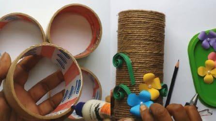 Come riciclare i rotoli del nastro adesivo