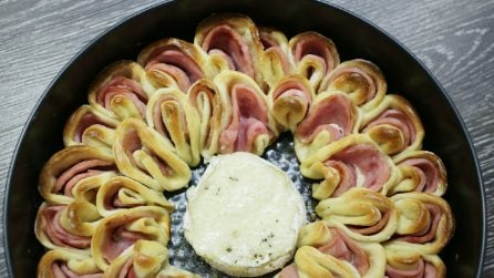 Ham and cheese flower