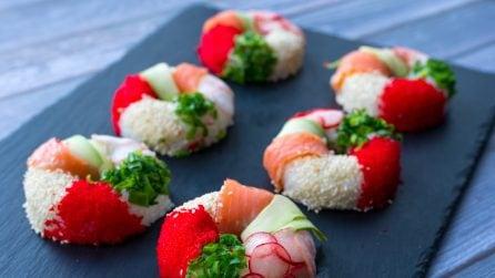 Ciambelle di sushi: l'idea originale e gustosa!